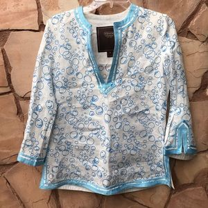 RARE Coach bubble 100% bamboo tunic Blouse